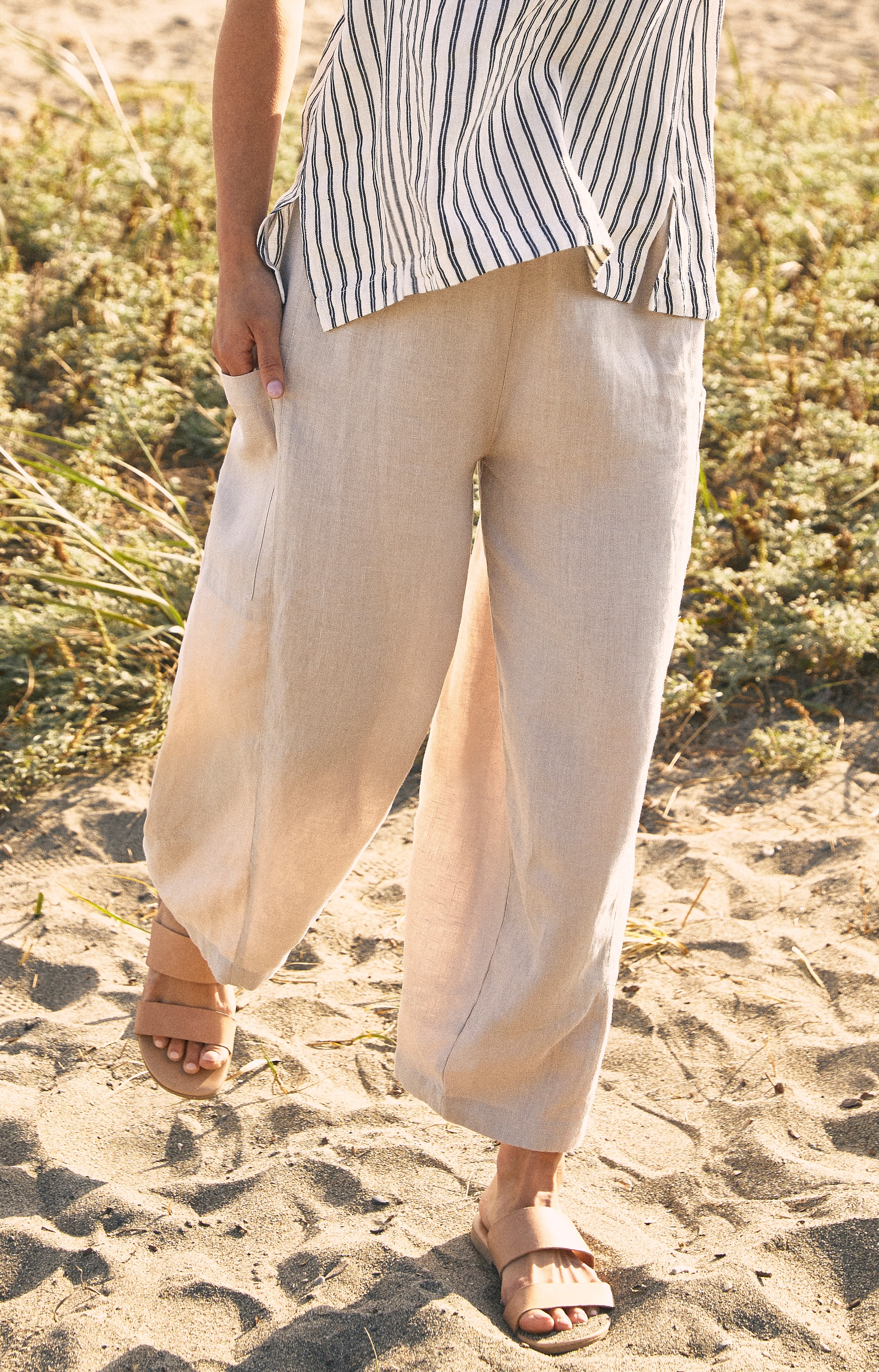 Sympli 100% Linen Lantern Pants Style LW2701, 2 Colors Available
