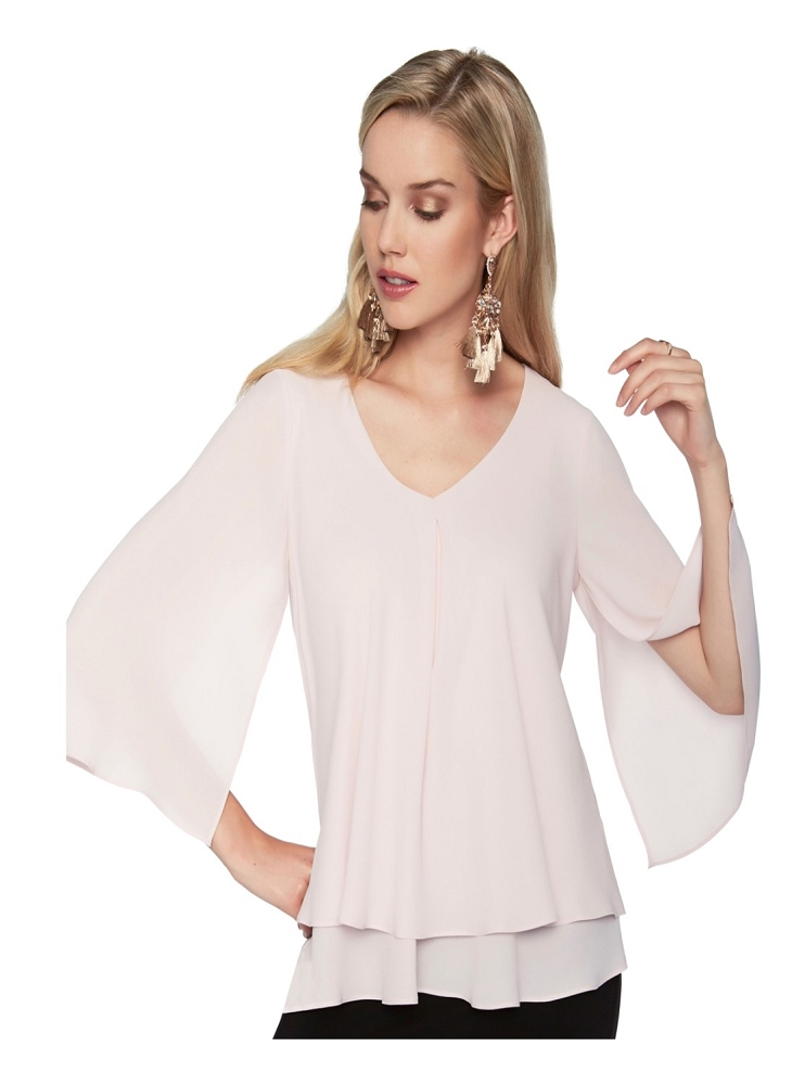 Frank Lyman Womens Layered Top, Style 176335, 7 Colors Available