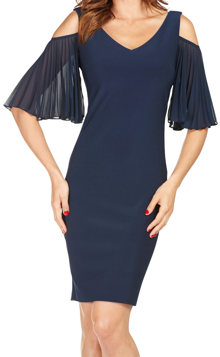 FRANK LYMAN Womens Midnight Dress, Style 188141, Color Midnight Blue