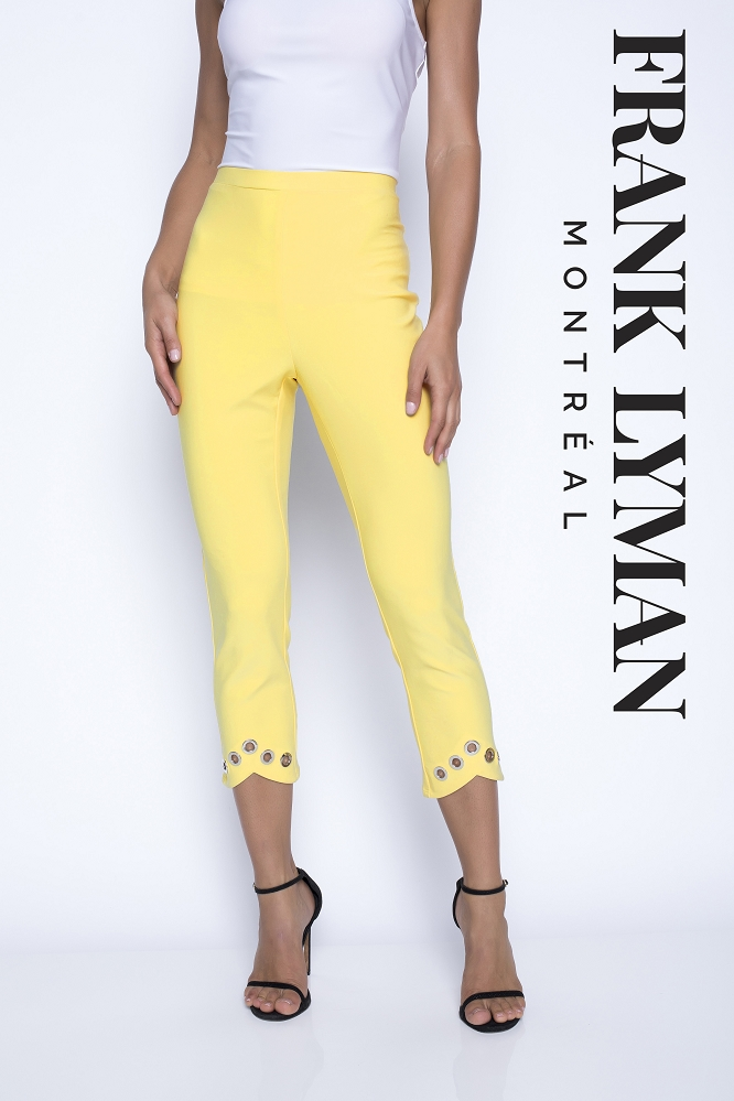 Frank Lyman Womens Pant Style 201031, Color Pineapple