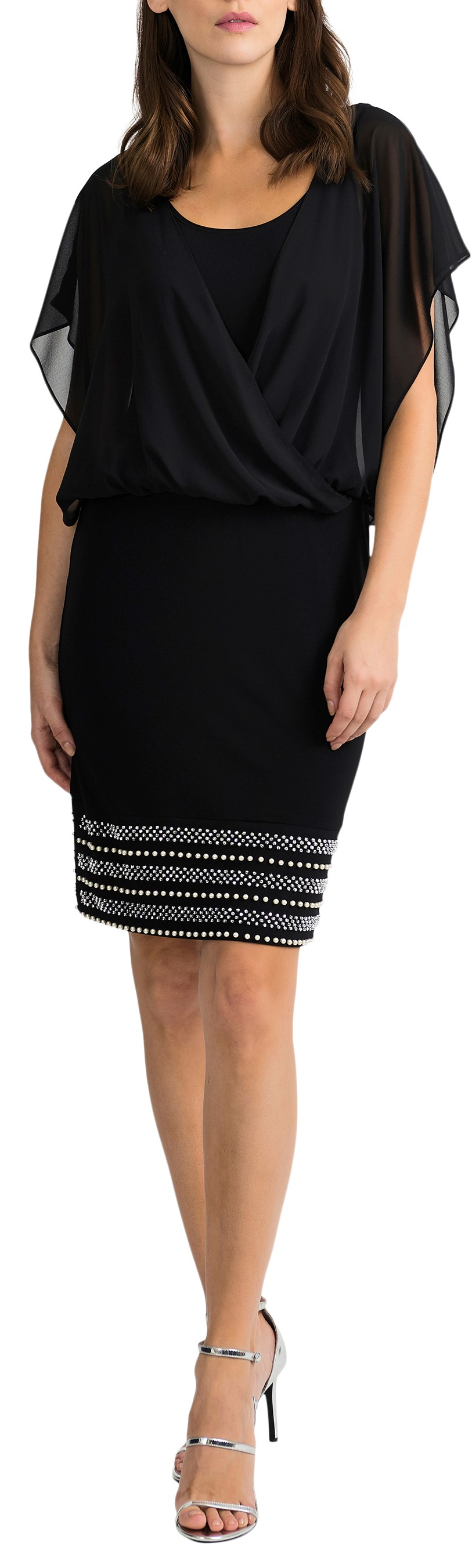Joseph Ribkoff Womens Embellished Dress Style 201166, 3 Colors Available