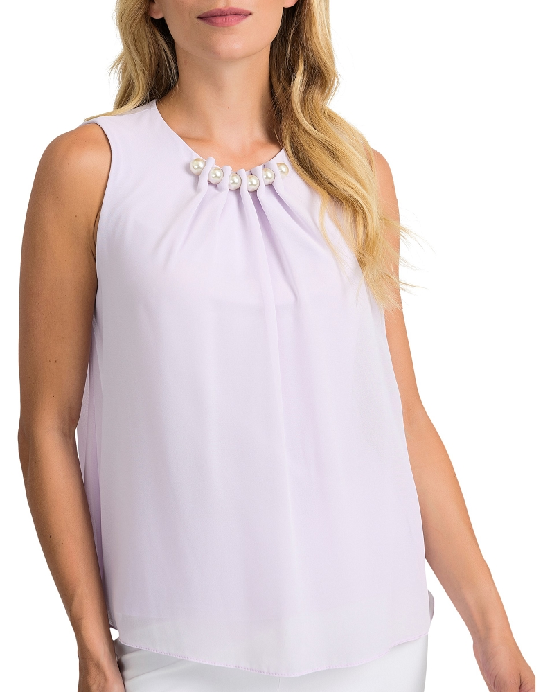 Joseph Ribkoff Womens Sleeveless Blouse Style 201375
