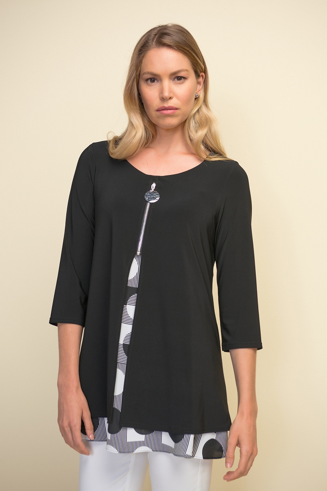 Joseph Ribkoff Womens Tunic Style 211275 Color Black/Vanilla (COPY)