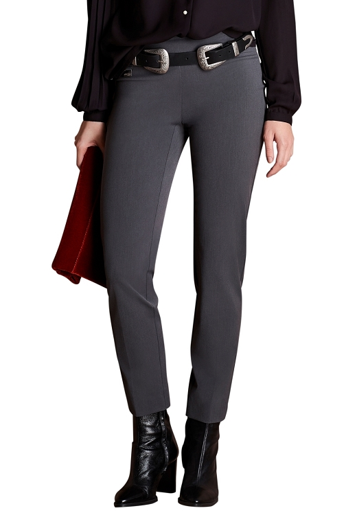 Lisette L Essentials, Slim Ankle Pants, Victoria Stretch Crepe  Style 33401, 4 Colors Available