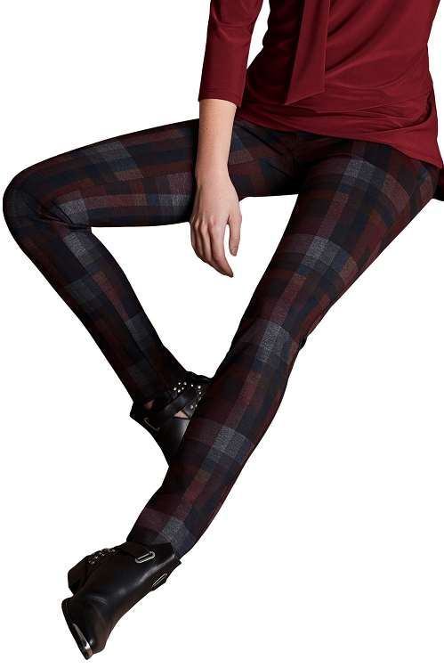 Lisette L. Thinny Pant Style 44244 Sophia Plaid Print Color Multi