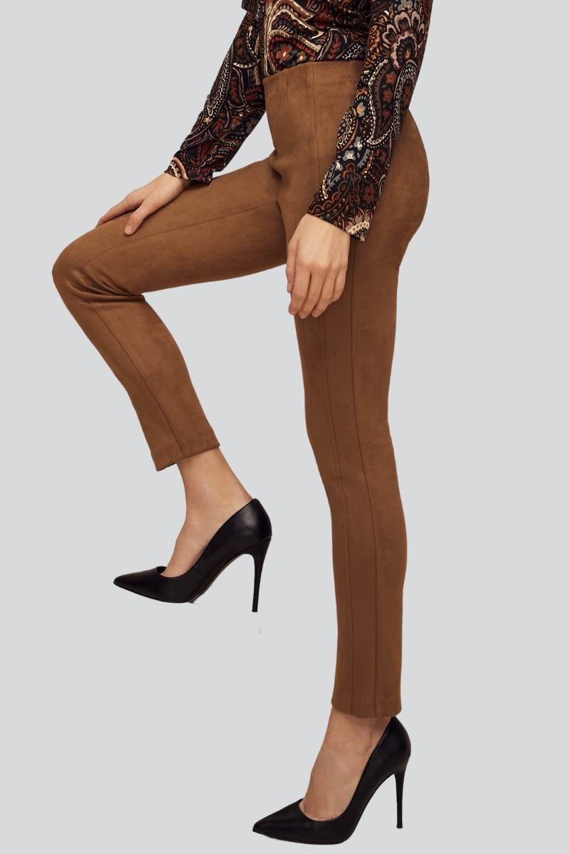 Lisette L. Slim Ankle Narrow Pant Style 700663 Sahara Suede, 2 Colors Available