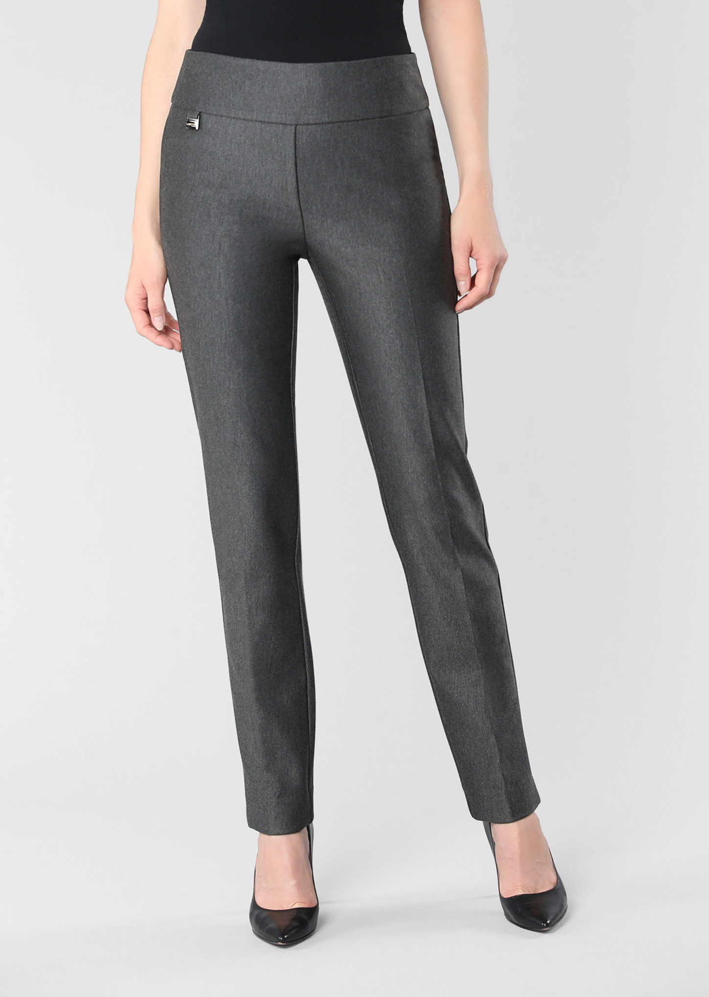 Lisette L. Skinny Leg Pant Style 73305 Wellington Twill Color Charcoal