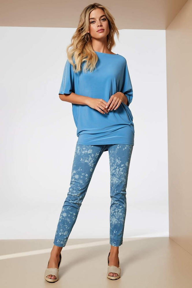 Lisette L. Slim Ankle Narrow Pant Style 36355 Bacopa Denim Color Bleached Denim