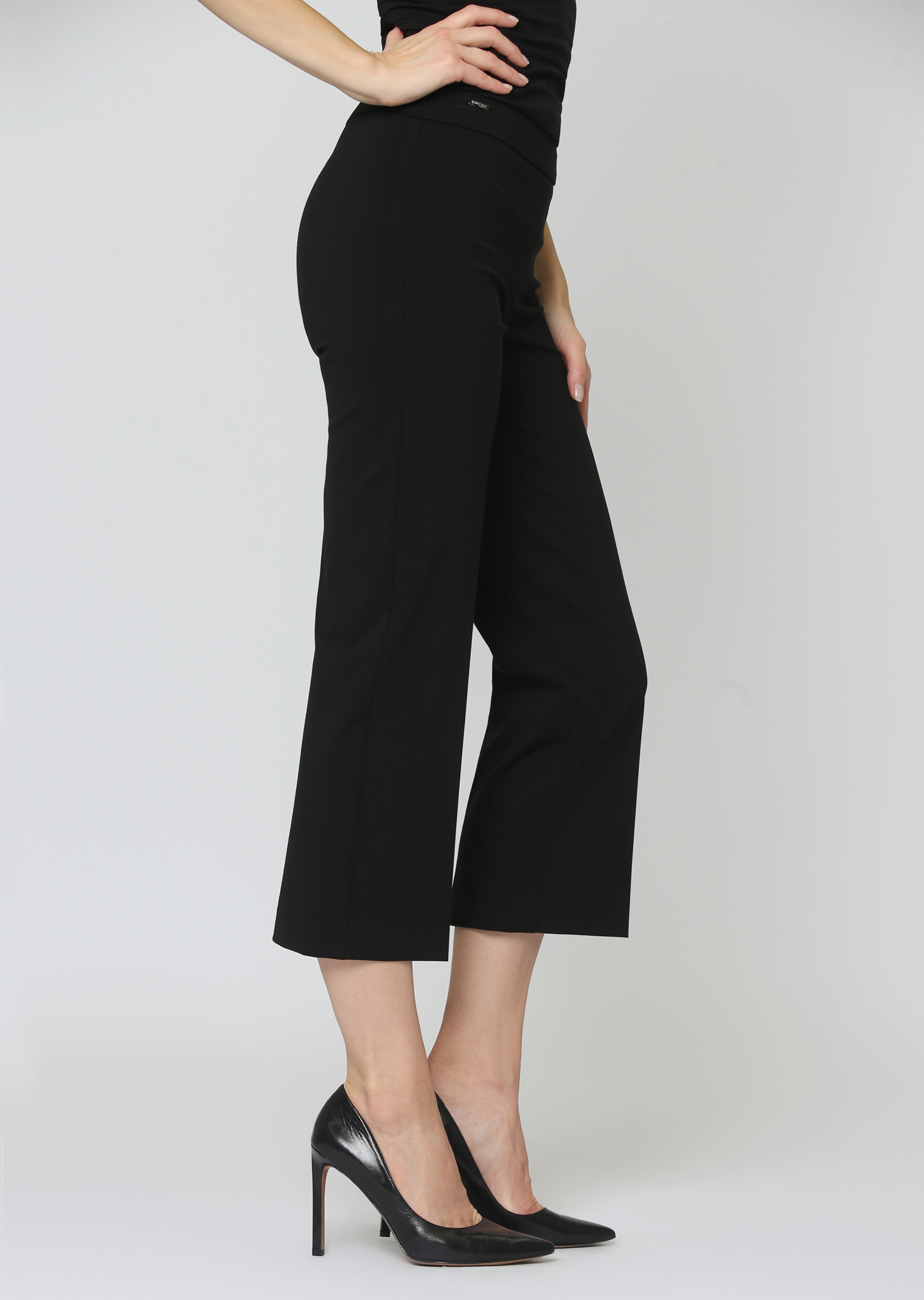 Lisette L. Crop Wide Leg Trouser Style 176636 Kathryne PDR Color Black