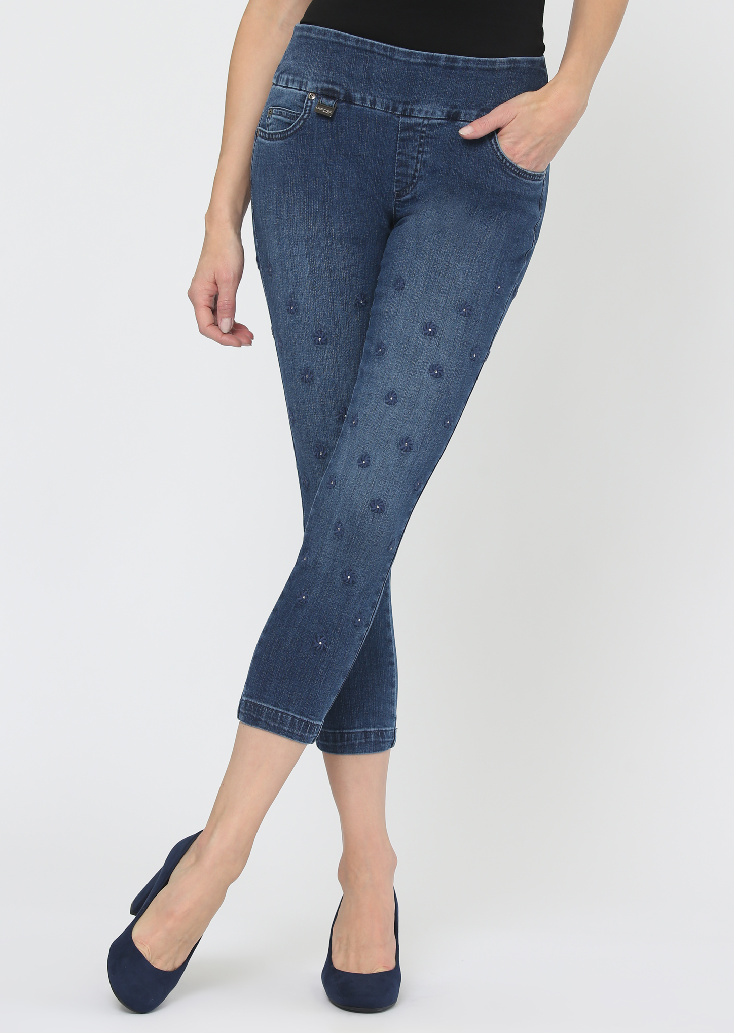 Lisette L. Thinny Crop Pant 455950 Betty Denim, 2 Colors Available
