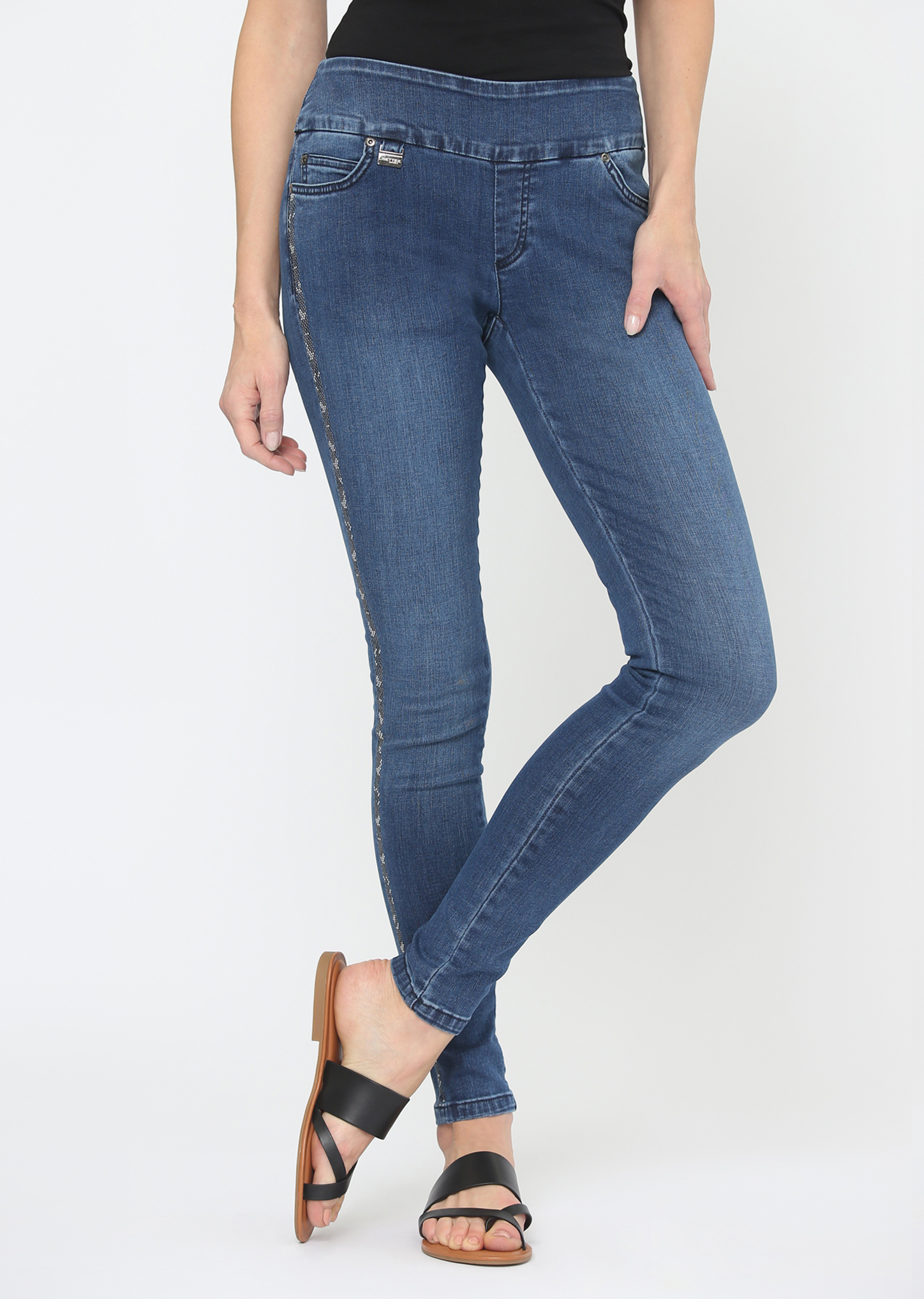 Lisette L. Slim Jean Style 603954 Lacey Denim, Color Denim Blue