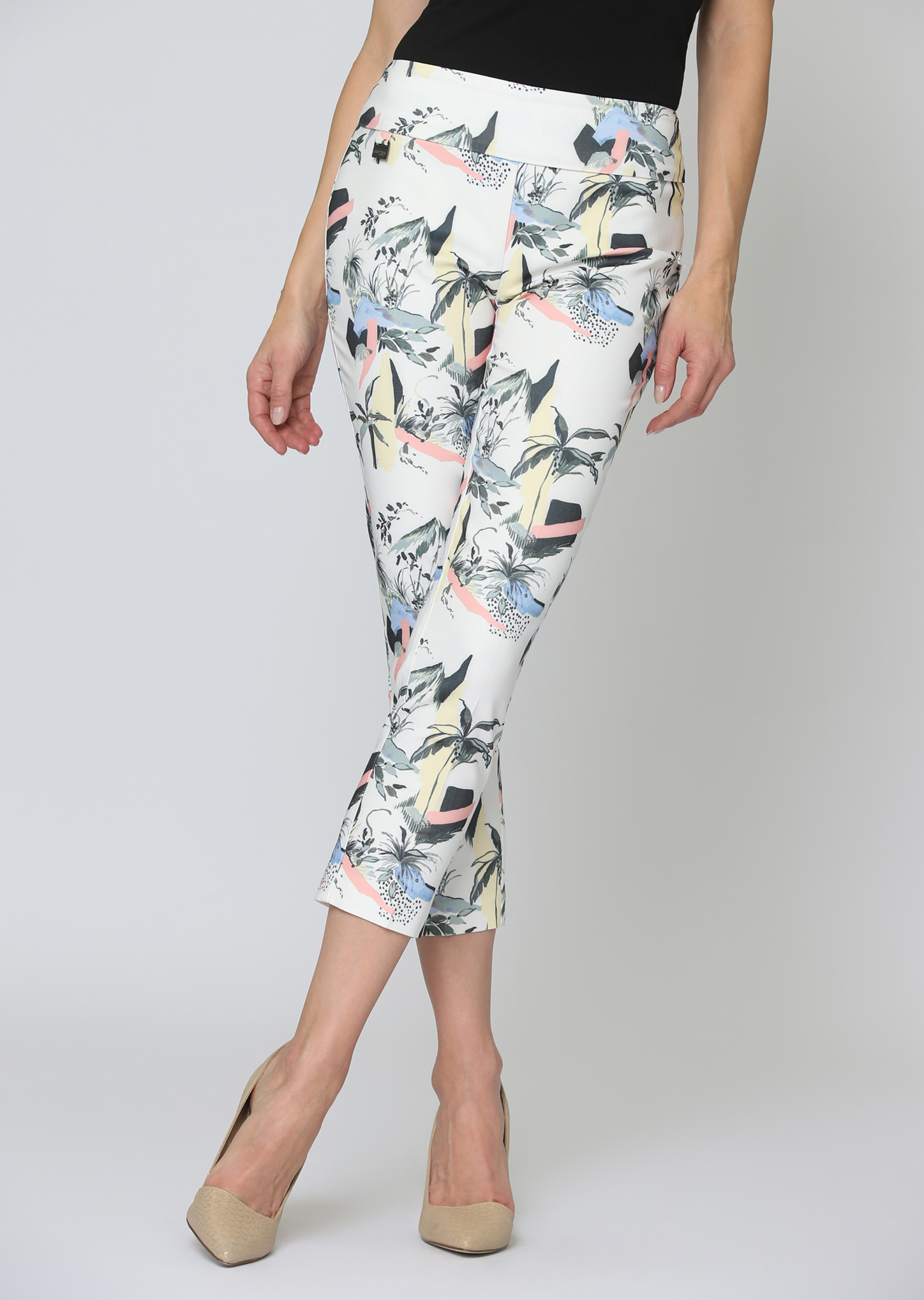 Lisette L. Crop Ankle Pant Style 65259 Surf Print Color Multi