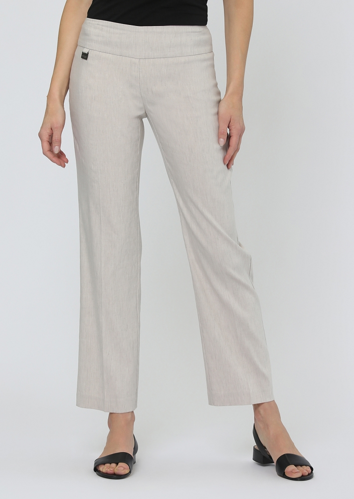 Lisette L. Stetch Linen Ankle Trouser Style 64756, 2 Colors Available