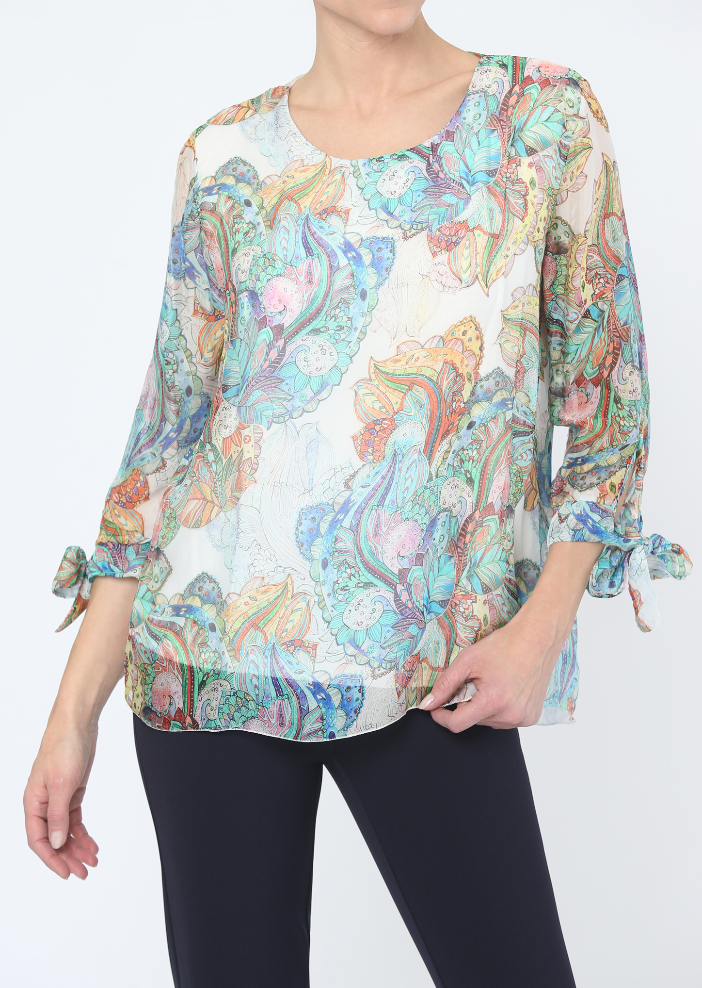 Lisette L. Blouse Top Style 659147 Aurora Silk Color Multi