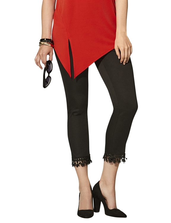 Lisette L Crop Ankle Pants Style 26087 Jupiter Cotton Stretch Color Black