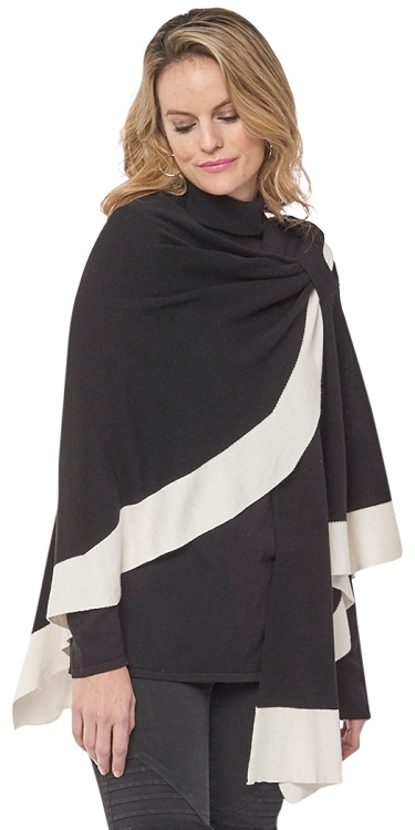 Dream Covi Wrap, One Size Fits All, Color Black/Beige