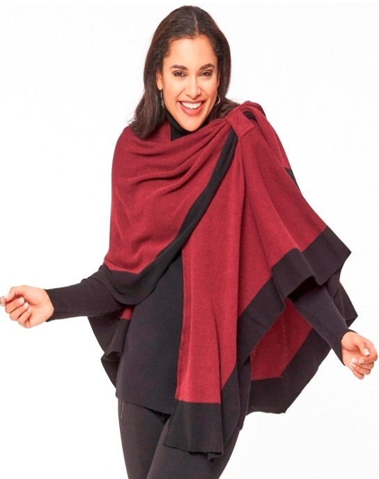 Dream Covi Wrap, One Size Fits All, Color Merlot/Black