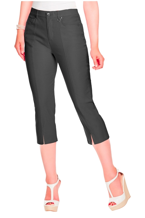 Simon Chang, Micro Twill Capri Pants, Style 5353, Color Black