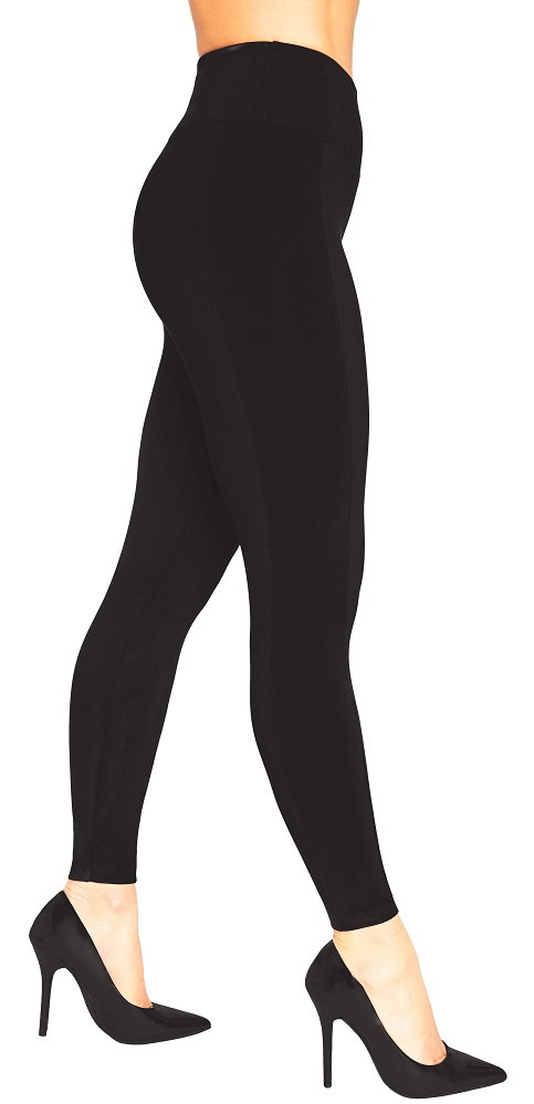 Sympli Womens Cinch Mix Legging, Style H6705, Color Black