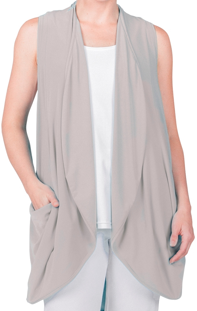 Sympli Class Act Vest Sleeveless Style 21135 Color Oatmeal