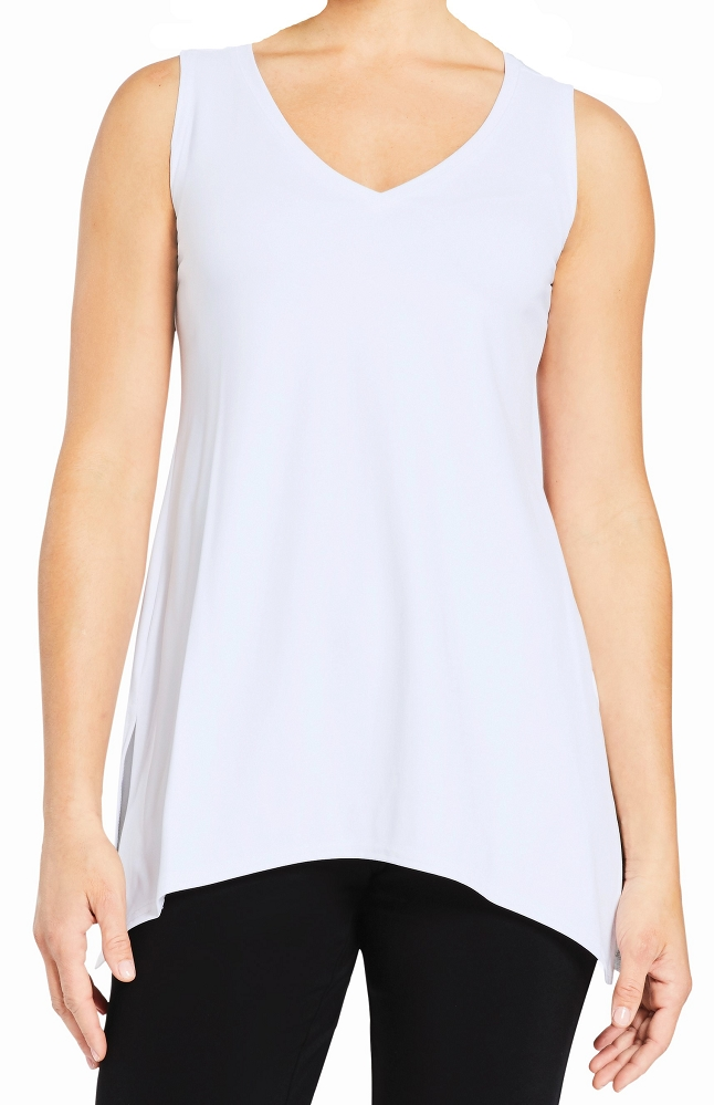 Sympli Sleeveless Mimic Top Reversible, Style 2172, Colors Available