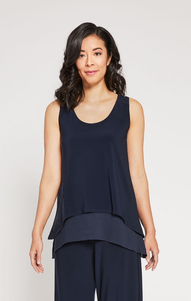 Sympli Sleeveless Whisper Riversible Tank Style 9103, 2 Colors Available