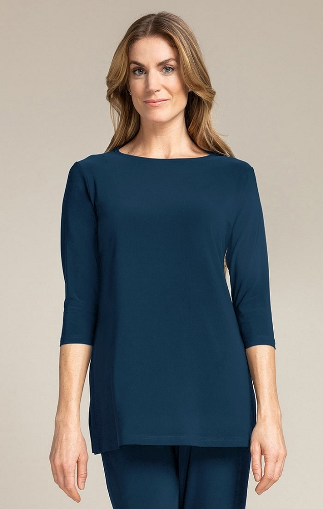 Sympli Nu Ideal Tunic 3/4 Sleeves, Style 23113-2, 4 Colors Available