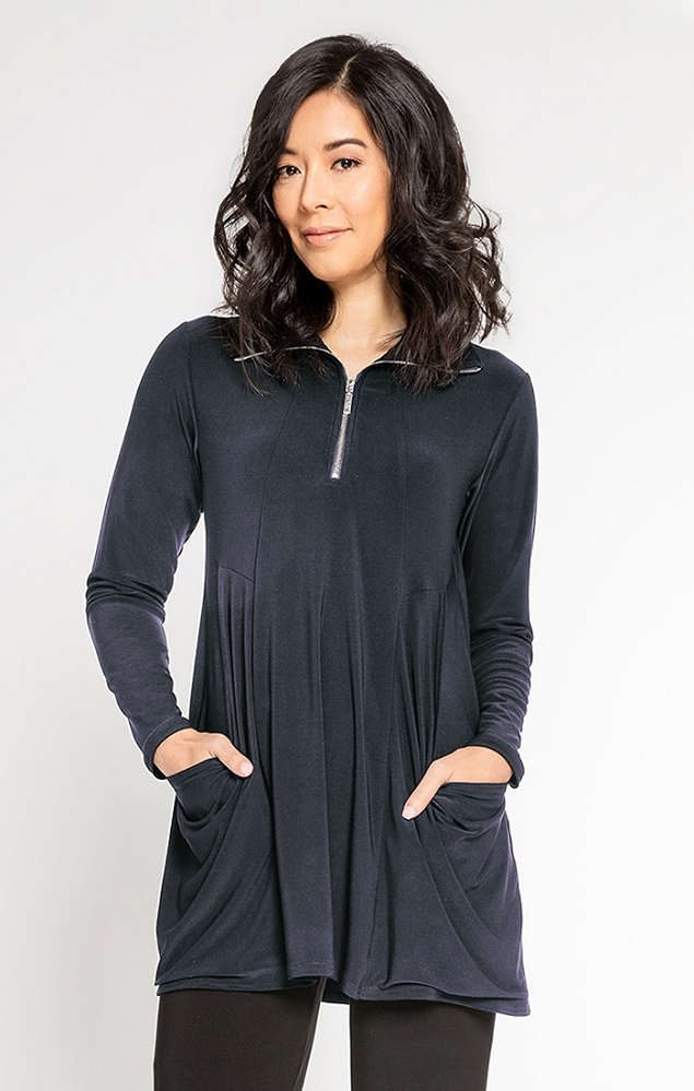 Sympli Womens Double Take Tunic Style 23142-3, 4 Colors Available