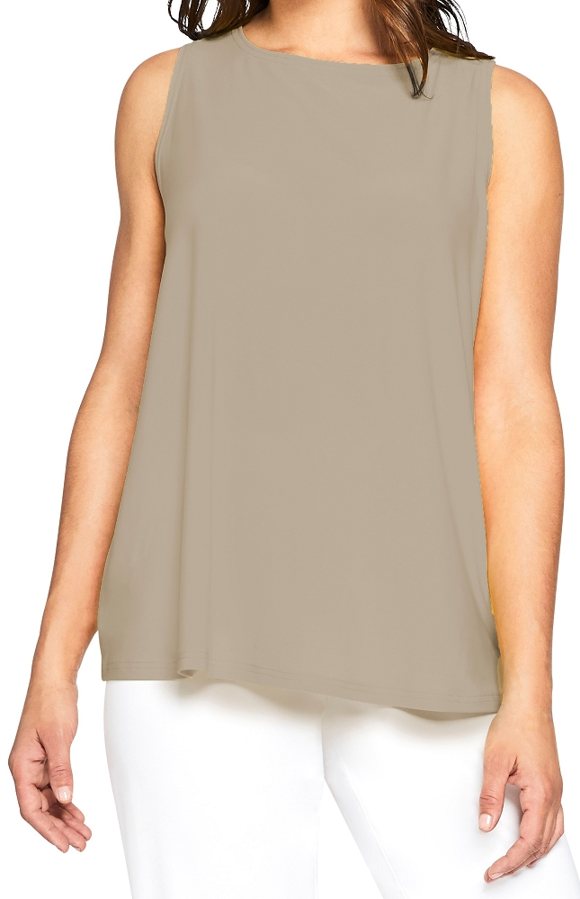 Sympli Womens Trapeze Tank Top Style 21155, 3 Colors Available