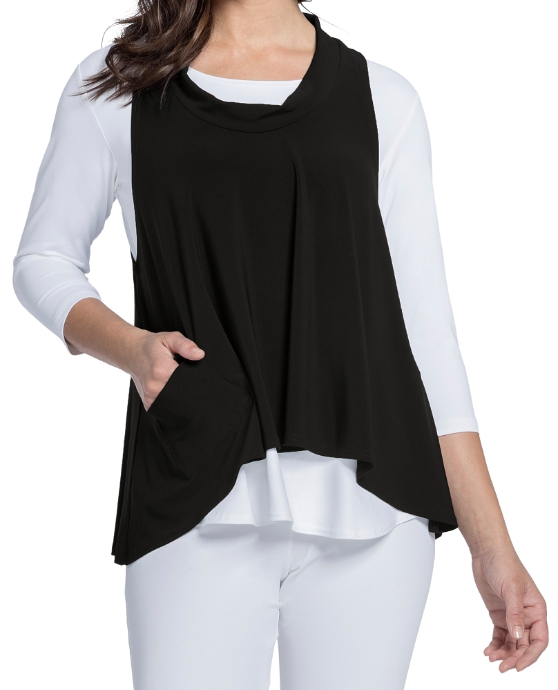 Sympli Womens Shift Smock Top Style 21159, 2 Colors Available