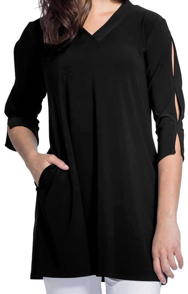 Sympli Womens Shift Tunic Style 23138-2, 2 Colors Available
