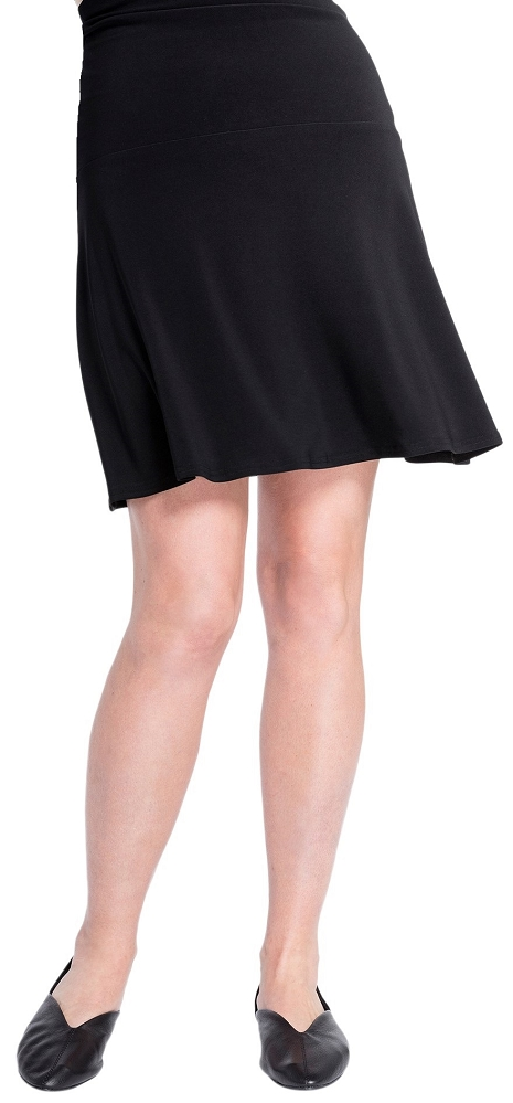 Sympli Womens Romance Mini Skirt, Style 2675, Color Black