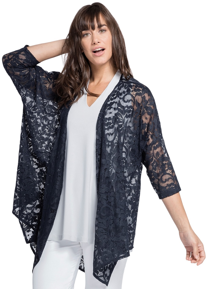 Sympli Womens Lace Kimono Style 3511-2, 2 Colors Available