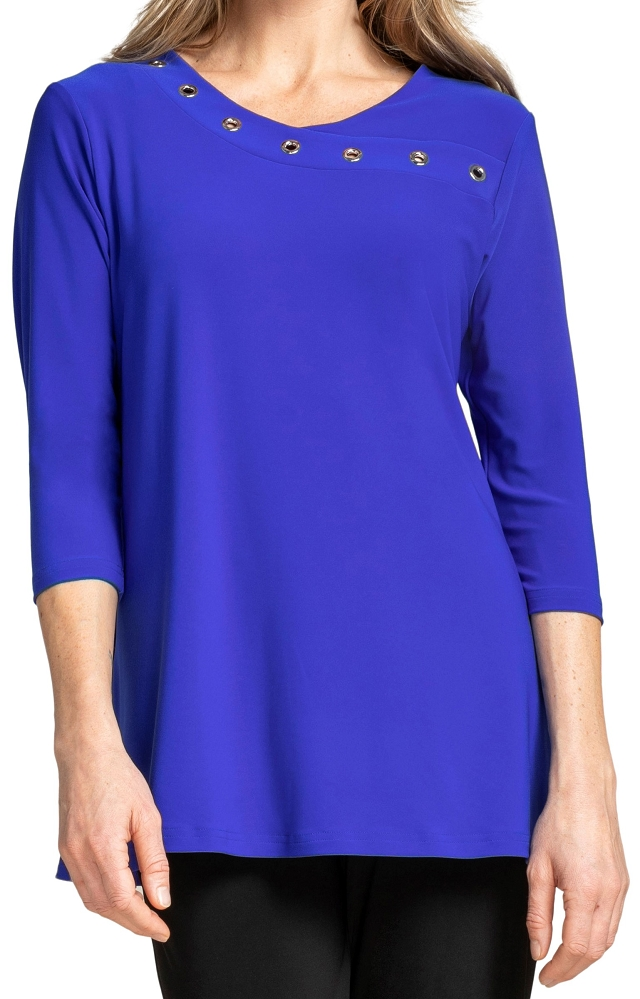 Sympli Womens 3/4 Sleeves, Halo Top Style 22209-2, 2 Colors Available