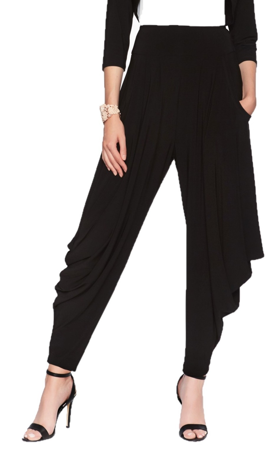 Frank Lyman Womens Pull On Pant Style 01077, Color Black