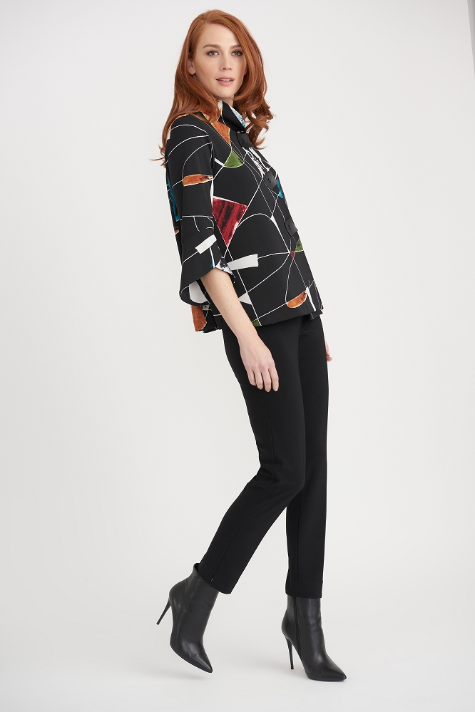 Joseph Ribkoff Womens Jacket, Style 203664 Color Black/Multi