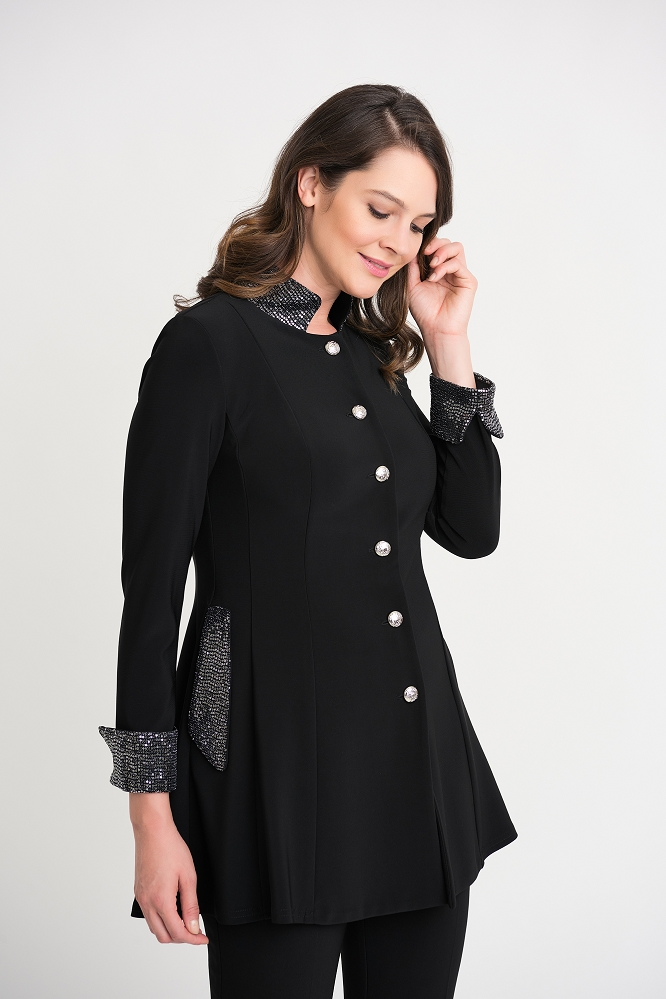 Joseph Ribkoff Womens Jacket Style 204090, Color Black
