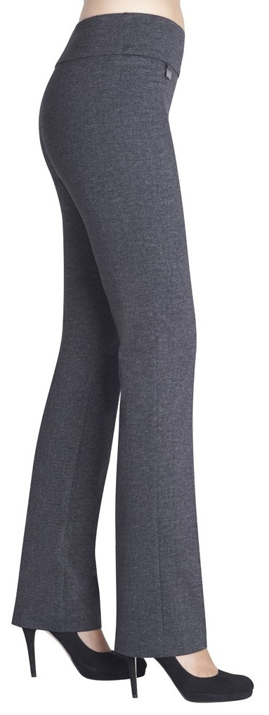 Lisette L. True Straight Pants Style 88115 Tweed Ponte Color Charcoal