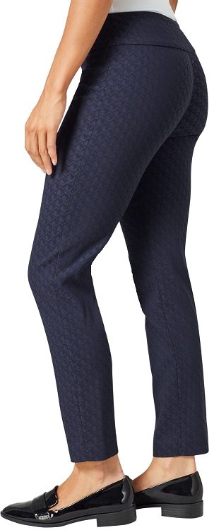 Lisette L. Slim Ankle Pants Style 99701 Jacquard Pattern Royal Blue