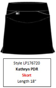 Lisette L Essentials, Skort Style 176720 Kathryn PDR (7 Colors Available)