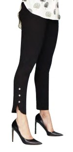 Lisette L Thinny Crop Pants Style 17652 Kathryn PDR, Color Brushed Nickel
