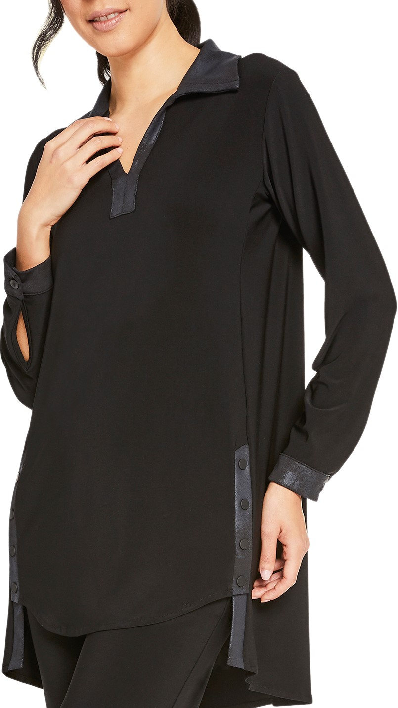 Sympli Womens Storm Weekender Tunic Style 23140-3 Color Black