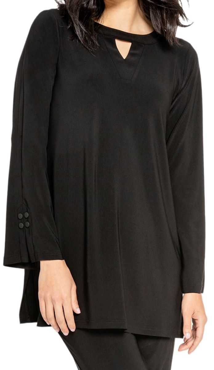 Sympli Womens Icon Mod Tunic Style 23147-3, 2 Colors Available