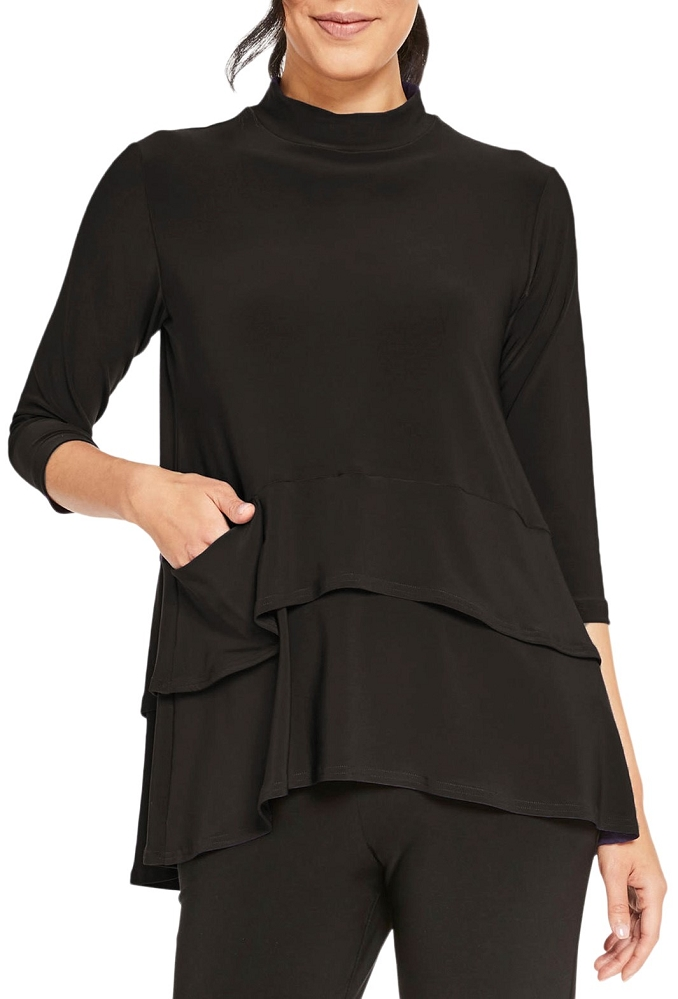 Sympli Womens Waterfall Top 22176-2 Color Black