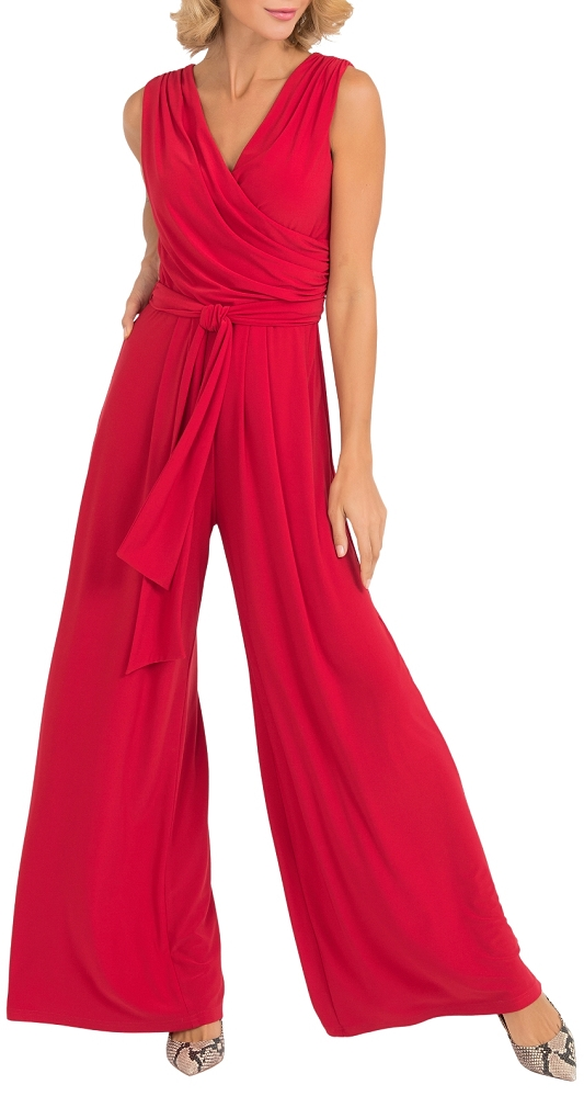 Joseph Ribkoff Womens Jumpsuit Style 193050 Color Lipstick Red