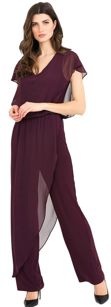 Joseph Ribkoff Womens Jumpsuit Style 194214 Color Blackberry