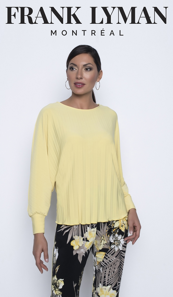 Frank Lyman Womens Top Style 196015, Color Pineapple
