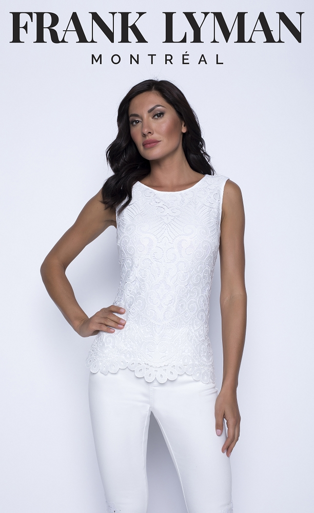 Frank Lyman Womens Top Style 201042, Color Off White