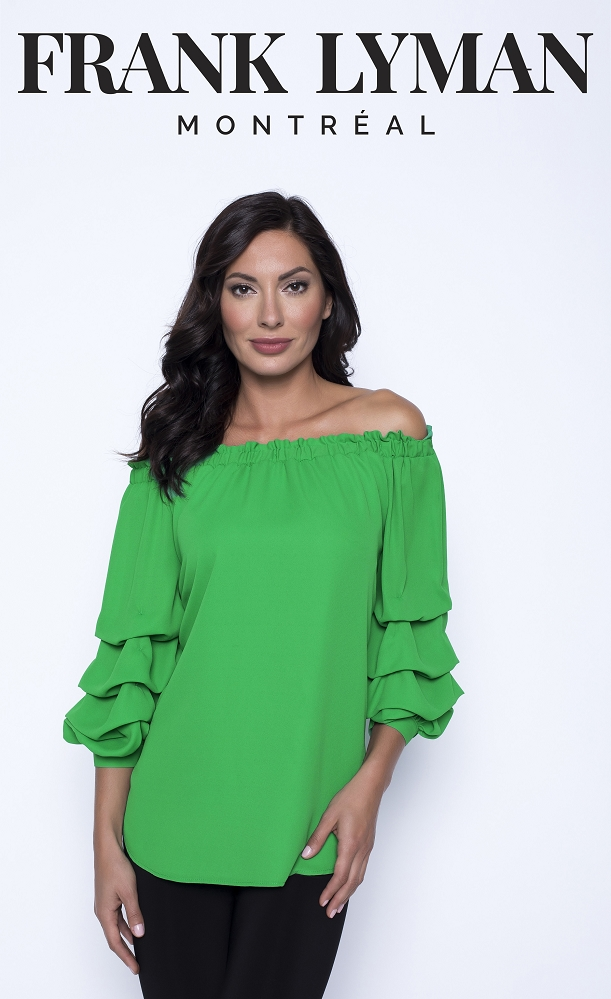 Frank Lyman Womens Top Style 201257, Color Green