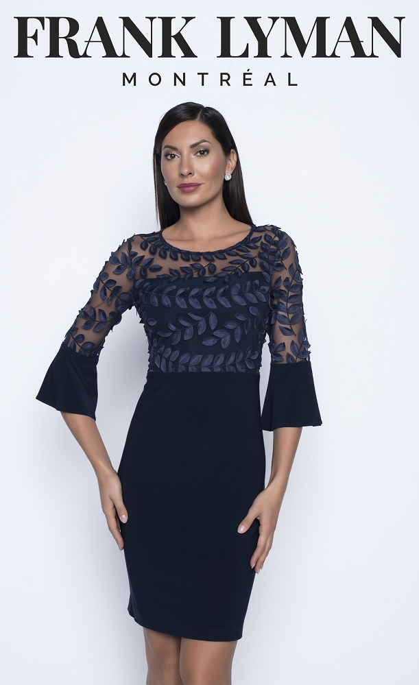 Frank Lyman Womens Dress Style 208004, Color Midnight